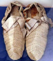 Slippers knitted by Ida Saxton McKinley, wife of President McKinley, for ailing President Hayes. Fremont, OH.