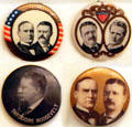 Theodore Roosevelt campaign buttons. Fremont, OH.