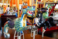 Seahorse on Merry-Go-Round Museum's working carousel. Sandusky, OH.