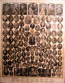Chart of famous historic people in John Wright Mansion at Historic Lyme Village Museum. Bellevue, OH.