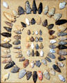 Collection of arrowheads in Galpin house at Milan Historical Museum. Milan, OH.