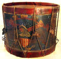 Civil War-era infantry drum at museum of Ohio State Capitol. Columbus, OH.