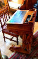 Davenport-style desk from Congress in Garfield Presidential Library at Garfield home. Mentor, OH.