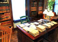 Desk & book cases in campaign office at Garfield NHS. Mentor, OH.