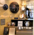 Collection of items of mourning for President Garfield at Garfield NHS. Mentor, OH.