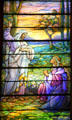 I Am the Resurrection & the Life stained glass window by Louis C. Tiffany Studio in Old Stone Church. Cleveland, OH.