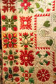 Sampler quilt detail by Martha Pierson of East Nottingham, NH at Cleveland History Center. Cleveland, OH.