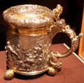 German silver tankard by Andreas Brachfeldt at Cleveland Museum of Art. Cleveland, OH.