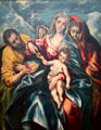 Holy Family with Mary Magdalene painting by El Greco at Cleveland Museum of Art. Cleveland, OH