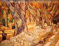 The Large Plane Trees by Vincent van Gogh at Cleveland Museum of Art. Cleveland, OH