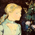 Portrait of Adeline Ravoux by Vincent van Gogh at Cleveland Museum of Art. Cleveland, OH.