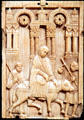 Italian ivory plaque of Journey to Bethlehem from Amalfi at Cleveland Museum of Art. Cleveland, OH.