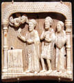 German ivory plaque of Zacharias at the Altar from Rhine Valley at Cleveland Museum of Art. Cleveland, OH.