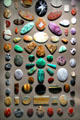 Gemstone cabochon collection at Cleveland Museum of Natural History. Cleveland, OH.