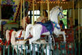 White horses of Salem's Riverfront Park Carousel. Salem, OR.