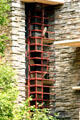 Open windows of Fallingwater. Mill Run, PA.