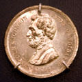Abraham Lincoln 1864 election promotion medal. PA.