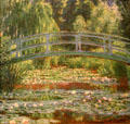 Japanese Footbridge & Water Lily Pool of Giverny by Claude Monet at Philadelphia Museum of Art. Philadelphia, PA.