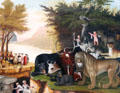 Peaceable Kingdom painting by Edward Hicks at Carnegie Museum of Art. Pittsburgh, PA.