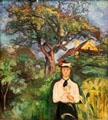 Girl under Apple Tree painting by Edvard Munch at Carnegie Museum of Art. Pittsburgh, PA.
