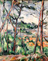 Landscape near Aix, The Plain of Arc River painting by Paul Cézanne at Carnegie Museum of Art. Pittsburgh, PA.