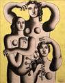 Composition with Three Figures - Fragment painting by Fernand Léger at Carnegie Museum of Art. Pittsburgh, PA.