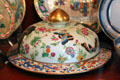 Porcelain Chinese covered platter at Chateau-sur-Mer. Newport, RI.