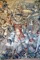 Detail of Scipio Africanus: Battle of Zama tapestry from Brussels at Rough Point. Newport, RI.