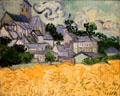 View of Auvers-sur-Oise painting by Vincent Van Gogh at RISD Museum. Providence, RI.