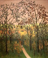 Corner of Park of Bellevue, Autumn Sunset by Henri Rousseau at RISD Museum. Providence, RI.