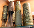 Trench art vases made from artillery shells at Museum of Work & Culture. Woonsocket, RI.