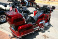 Red Honda GoldWing motorcycle. Lead, SD.