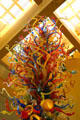 Fiesta Tower blown glass sculpture by Dale Chihuly Central Library atrium. San Antonio, TX