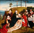Lamentation painting attrib. Quinten Metsys of Netherlands at Museum of Fine Arts, Houston. Houston, TX.