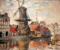 Windmill on the Onbekende Gracht, Amsterdam painting by Claude Monet at Museum of Fine Arts, Houston. Houston, TX.