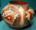 Ceramic Acoma jar with parrot at Museum of Fine Arts, Houston. Houston, TX.
