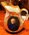 Portrait of Zachary Taylor on porcelain pitcher at Bayou Bend. Houston, TX.