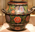 Earthenware container from Jalisco, Mexico at San Antonio Museum of Art. San Antonio, TX.