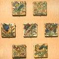 Earthenware tiles with birds from Iran at San Antonio Museum of Art. San Antonio, TX.