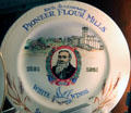 100th anniversary of Pioneer Flour mills ceramic plate at Guenther House Museum. San Antonio, TX.