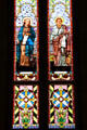 Stained glass windows of Evangelists St. John & St. Mark at San Fernando Cathedral. San Antonio, TX.