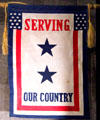 Two star banner flown by families with two servicemen at National Museum of the Pacific War. Fredericksburg, TX.