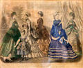 Graphic of Godey's Fashions for October 1869 at LBJ Boyhood Home. Johnson City, TX.