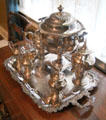 Silver coffee & tea service at Earle-Napier-Kinnard House. Waco, TX.