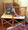 Bamboo style love seat at McCulloch House. Waco, TX.