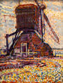 Winkel Mill, Pointillist Version painting by Piet Mondrian at Dallas Museum of Art. Dallas, TX.