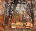 Spring Sun: Castle Ruin painting by Piet Mondrian at Dallas Museum of Art. Dallas, TX