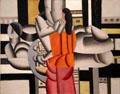 Three Women & Still Life painting by Fernand Léger at Dallas Museum of Art. Dallas, TX.