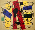 The Divers painting by Fernand Léger at Dallas Museum of Art. Dallas, TX.