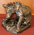 Bronze cast of Bear Cub Grooming by Paul Bartlett at Amon Carter Museum of American Art. Fort Worth, TX.